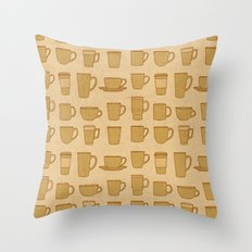 Coffee stained Throw Pillow