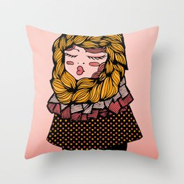 Andrea's Scarf Throw Pillow