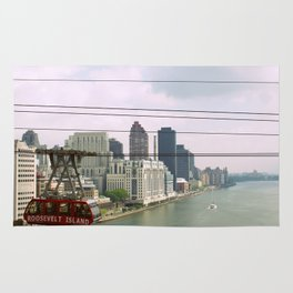 Roosevelt Island Tramway Passing By, New York City Rug