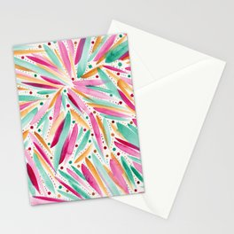 Summer Vibes in stripes and dots Stationery Cards