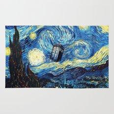 Tardis Starry Night Art Painting Rug