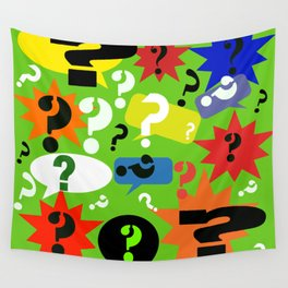 Question mark graphic collage Wall Tapestry