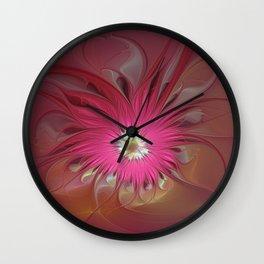 Flourish Fantasy, Abstract Fractal Art Wall Clock