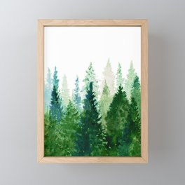Pine Trees 2 Framed Mini Art Print