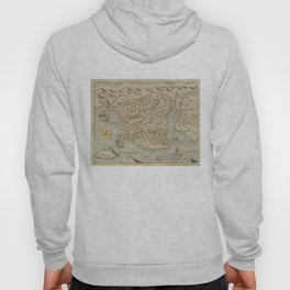 Vintage Pictorial Map of Constantinople (1620) Hoody