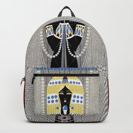 """The Egyptian"" Art Deco Illustration Backpack"