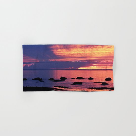 Sunset on the Mighty St-Lawrence Hand & Bath Towel