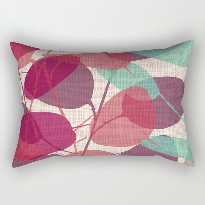 Lunaria purple Rectangular Pillow