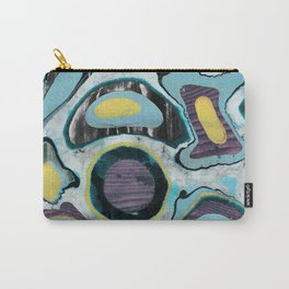 Multicolor textured marble spots Carry-All Pouch