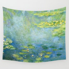 1906-Claude Monet-Waterlilies-73 x 92 Wall Tapestry