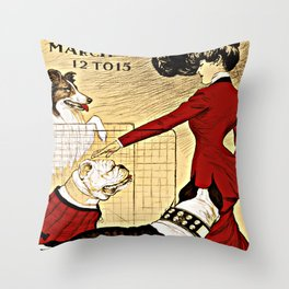 Chicago Kennel Club's Dog Show (1902) Throw Pillow