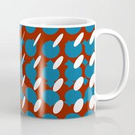 elipse grid pattern_pigeon,red Coffee Mug