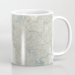 Vintage Map of Philadelphia PA (1901) Coffee Mug
