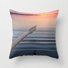 Sunset in Scandinavia Throw Pillow