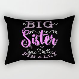 Big Sister Finally Pregnancy Announcement Gift Rectangular Pillow