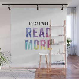 New Year's Resolution - TODAY I WILL READ MORE Wall Mural
