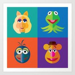 Muppet Minimalism Art Print