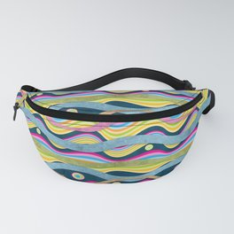 Psychedelic Waves Fanny Pack