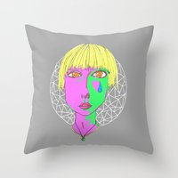 hippy Throw Pillows featuring Hippy Chic  by syahrulfikri