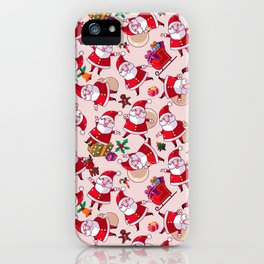 Santa Gift Pattern iPhone Case