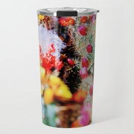 RAINBOW CACTUS CLUSTER PATTERN Travel Mug