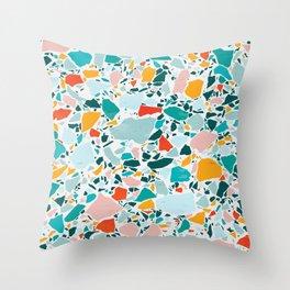 Modern Summer Terrazzo Throw Pillow