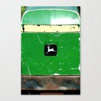 john green Canvas Prints featuring John Deere Green..... by LeeRay Flowers