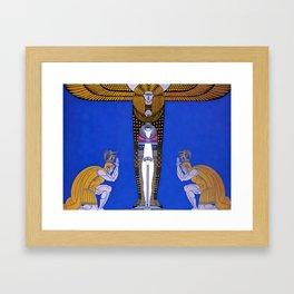 "Art Deco Orientalism ""Cleopatra"" Design Framed Art Print"