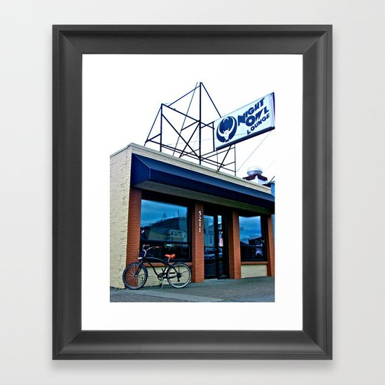 Tacoma's Night Owl Framed Art Print