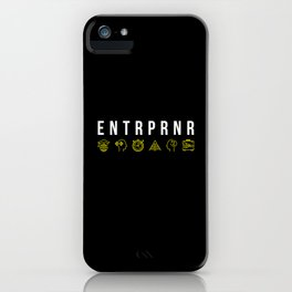 ENTRPRNR - Entrepreneur with Icons iPhone Case