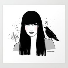 The witch mystery eyes Art Print