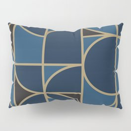 Morning Dance In Blue Big Scale Pillow Sham