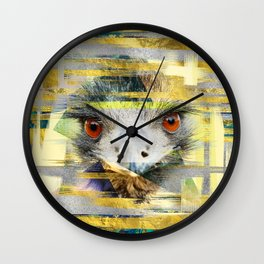 Abstract Art Collage Ostrich Wall Clock