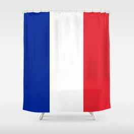 Flag of France, HQ image Shower Curtain