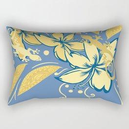 Samoan Orchid Sunset Polynesian Floral Rectangular Pillow