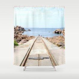 The stranger away Shower Curtain