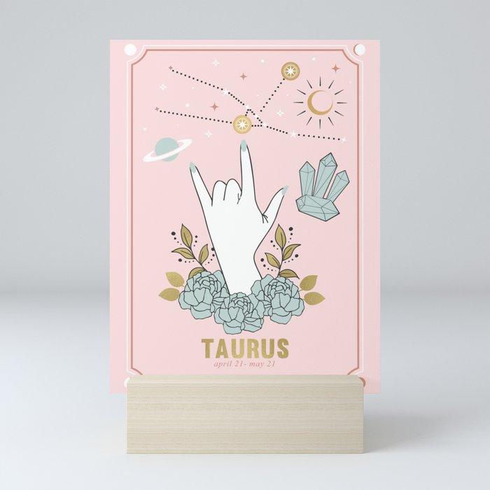 Taurus Zodiac Series Mini Art Print