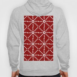 Triangle Pattern In Red and White Hoody