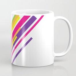 Colorful Stripes Art Beautiful Green Orange Yellow Pink Purple Happiness Shirt Gift Idea Friends Coffee Mug