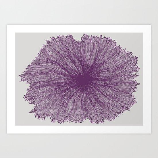 Jellyfish Flower A Art Print