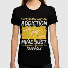 Kuvasz  Funny Dog Addiction T-shirt