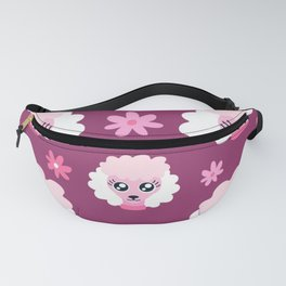 Cute Pink Poodle Pattern  Fanny Pack