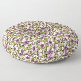 Sakura - Pink Cherry Blossoms Floor Pillow