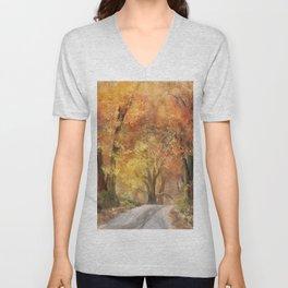 Autumn's Glow Unisex V-Neck