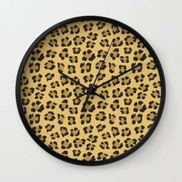 Leopard Print - Wild Anmals skin Wall Clock