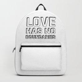 LOVE HAS NO BOUNDARIES Backpack