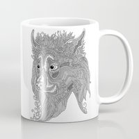 beast Mugs featuring Beast by Olya Goloveshkina