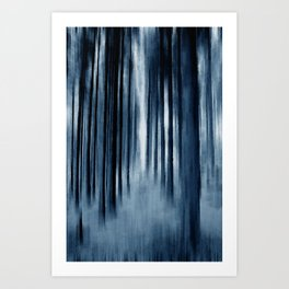 Indigo Trees Art Print