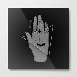 The Occult Hand Metal Print