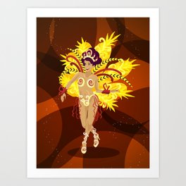 Brazilian woman Art Print